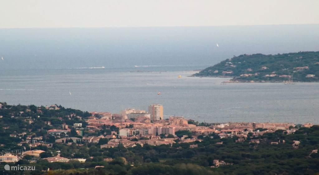 Uitzicht op St. Maxime