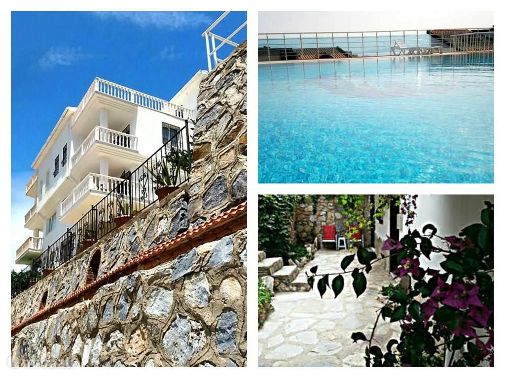 Deze grote villa ligt op één van de mooiste plekken van Kusadasi. Het uitzicht is spectaculair. Het zwembad is schitterend met ook een fantastisch uitzicht over Kusadasi, zee en haven.