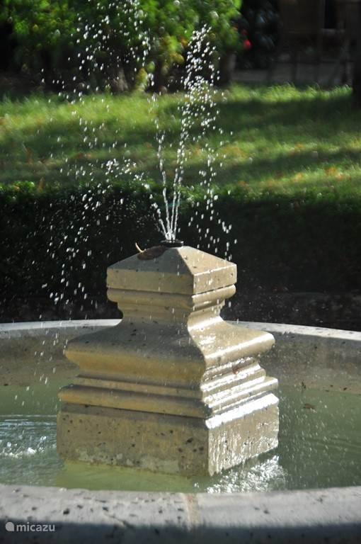 Op de achtergrond het zacht klaterend geluid van de fontein ... (je kunt 'm ook uitzetten :-)