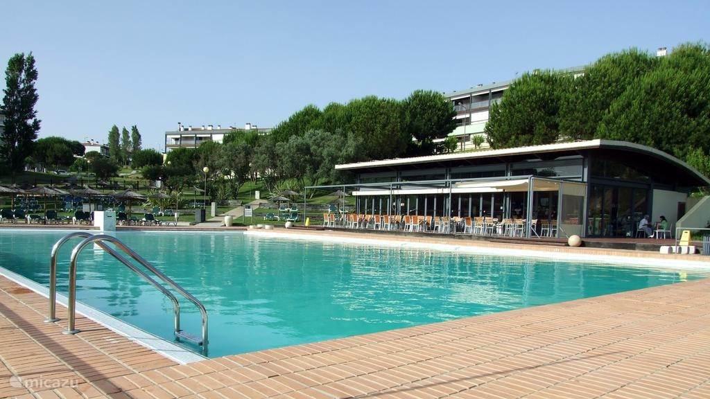Het ruime zwembad in Marina Park.