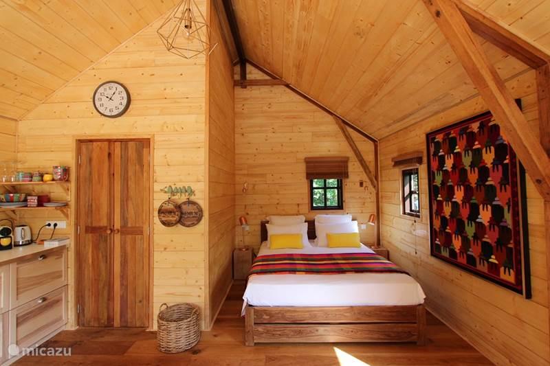 Vakantiehuis Frankrijk, Dordogne, Auriac-du-Périgord Blokhut / Lodge Cabane Rouge-Gorge