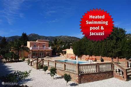 Vakantiehuis Spanje, Andalusië, Alhaurín de la Torre - villa Villa, verwarmd zwembad, zeezicht