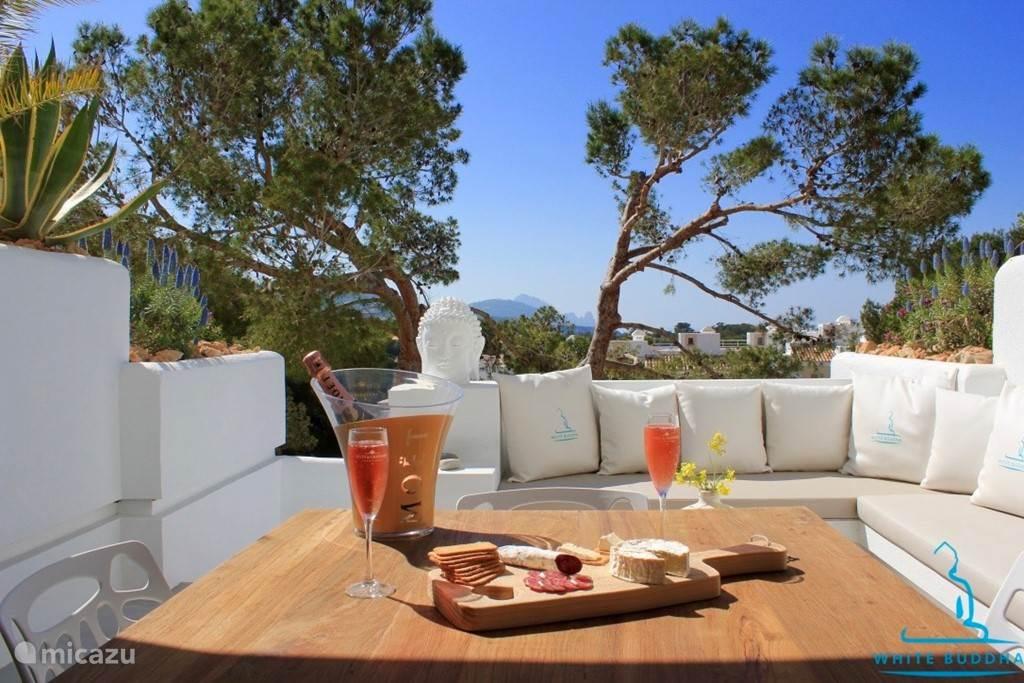 Vakantiehuis Spanje, Ibiza, Cala Tarida Appartement White Buddha