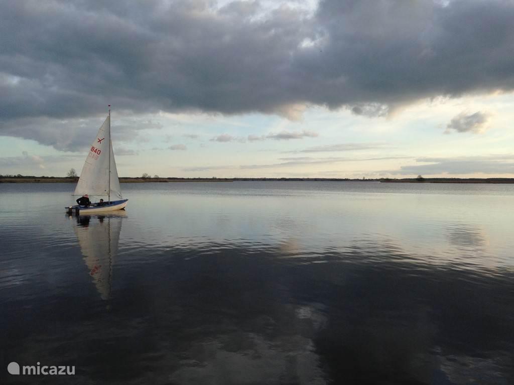 Prachtig zeilen op het meer