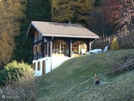 Heerlijk privé gelegen, romantisch chalet op 1550m hoogte met panoramisch uitzicht.