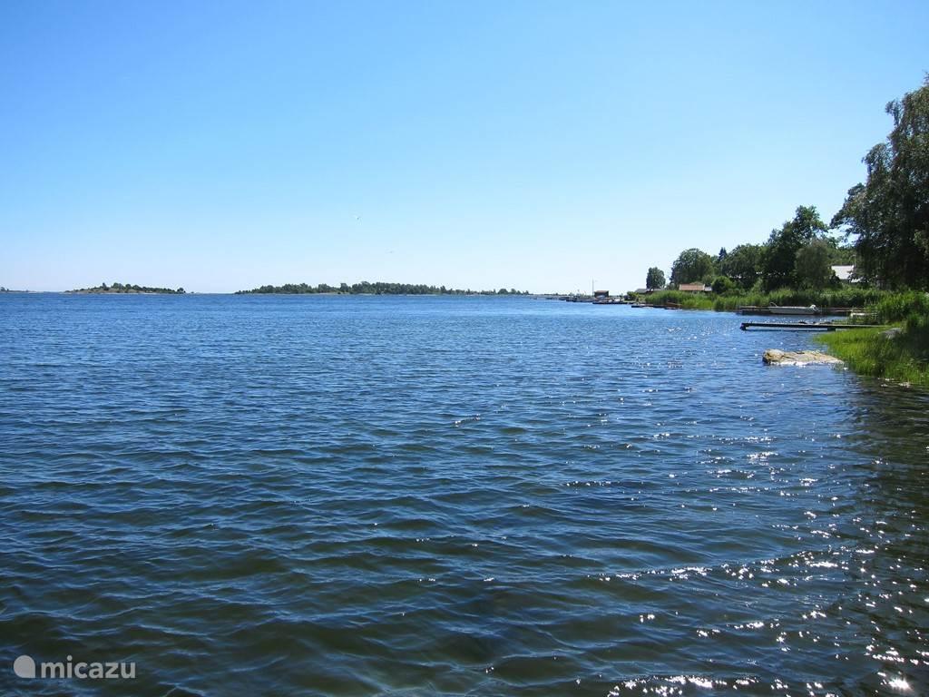 De archipelago, 1 km van het vakantiehuis