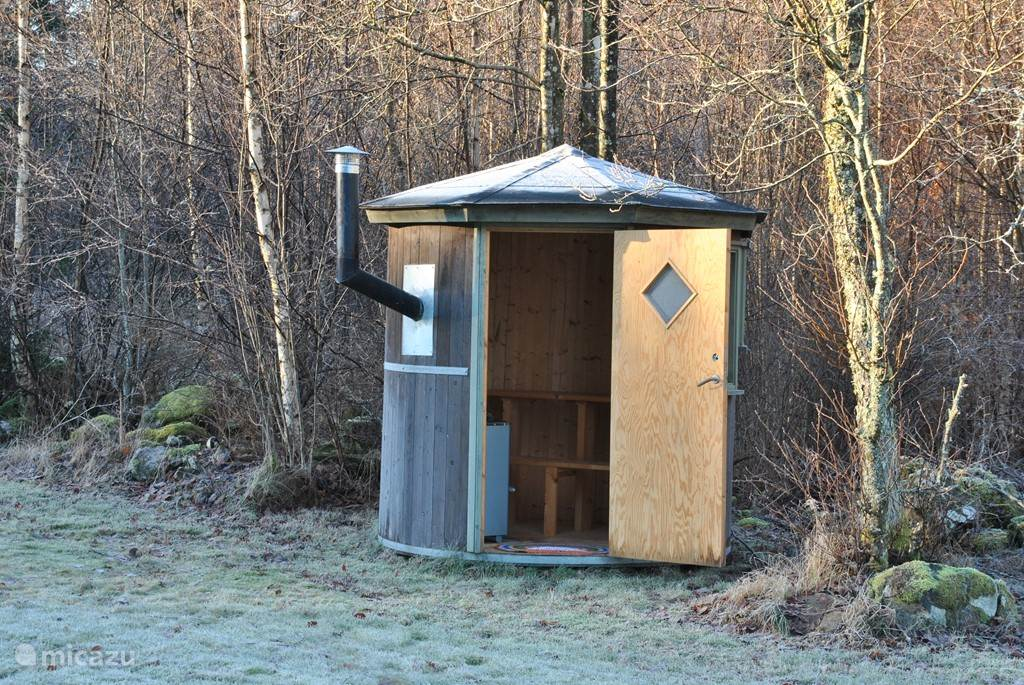 De heerlijke houtgestookte sauna.