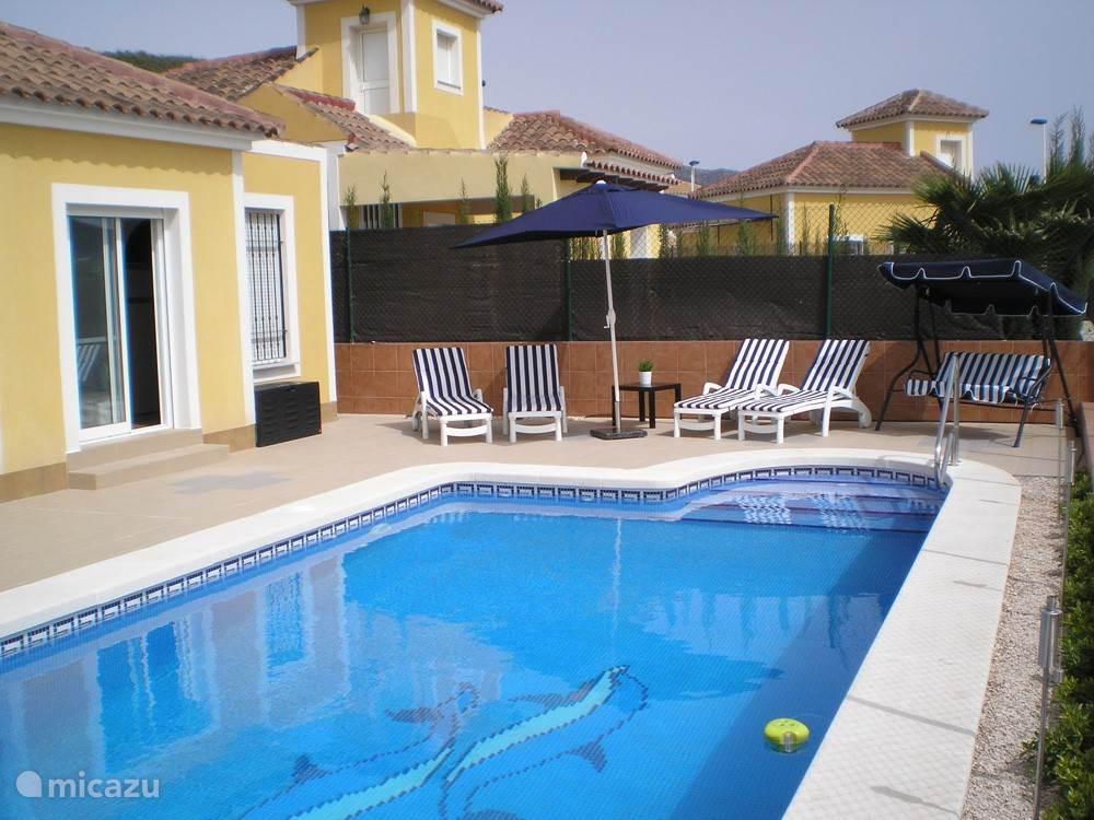 Terras met eigen zwembad