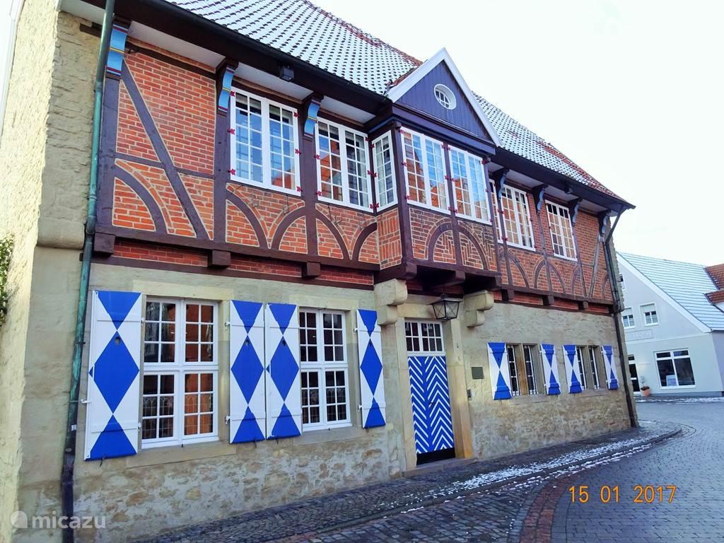 Altes Rathaus in het centrum van Horstmar.