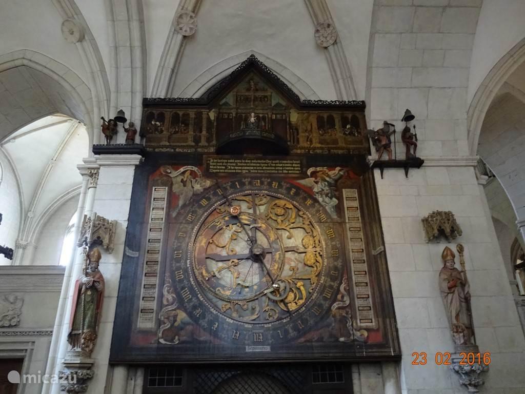 Astronomisch uurwerk in de Dom van Muenster.