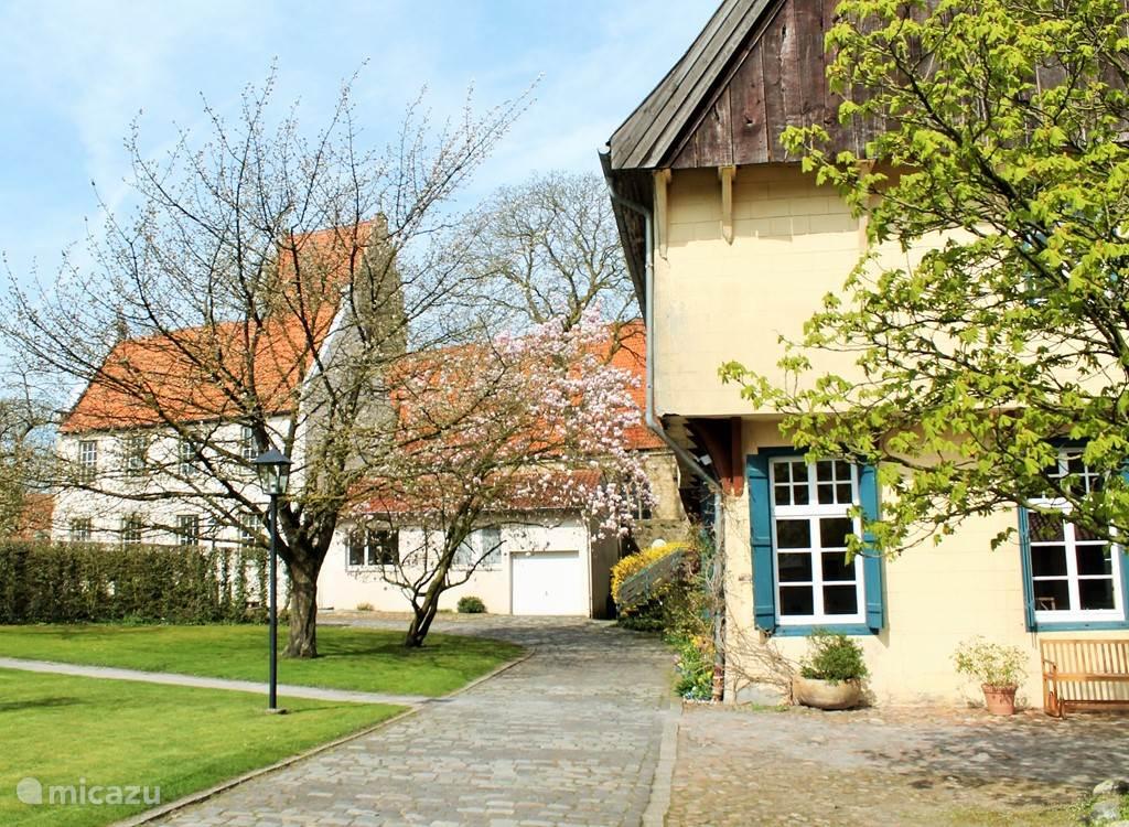 De grote evangelische kerk in Burgsteinfurt.