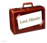 Last Minute ( vraag ernaar !! )