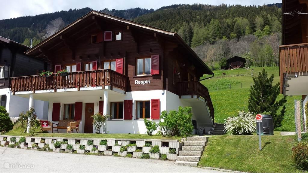Vakantiehuis Zwitserland, Wallis, Fiesch appartement Chalet Respiri