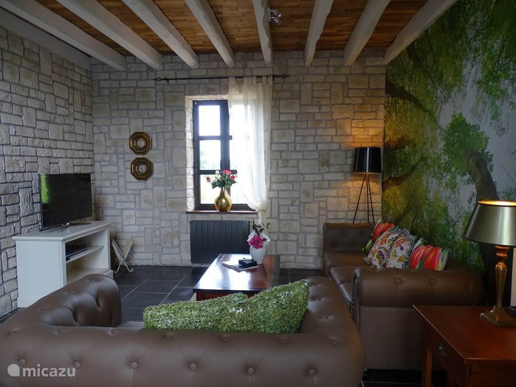 De woonkamer met smart tv