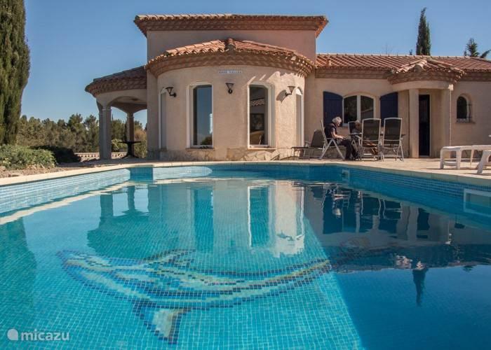Vakantiehuis Frankrijk, Hérault, Oupia Villa Rose Vallea villa Zwembad Frankrijk
