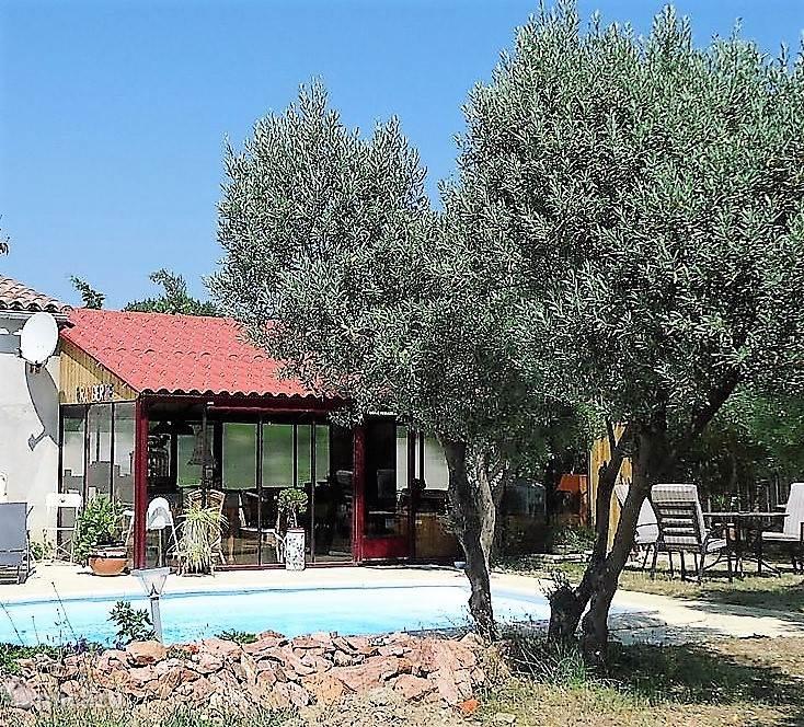 Zwembad in de olijfgaard