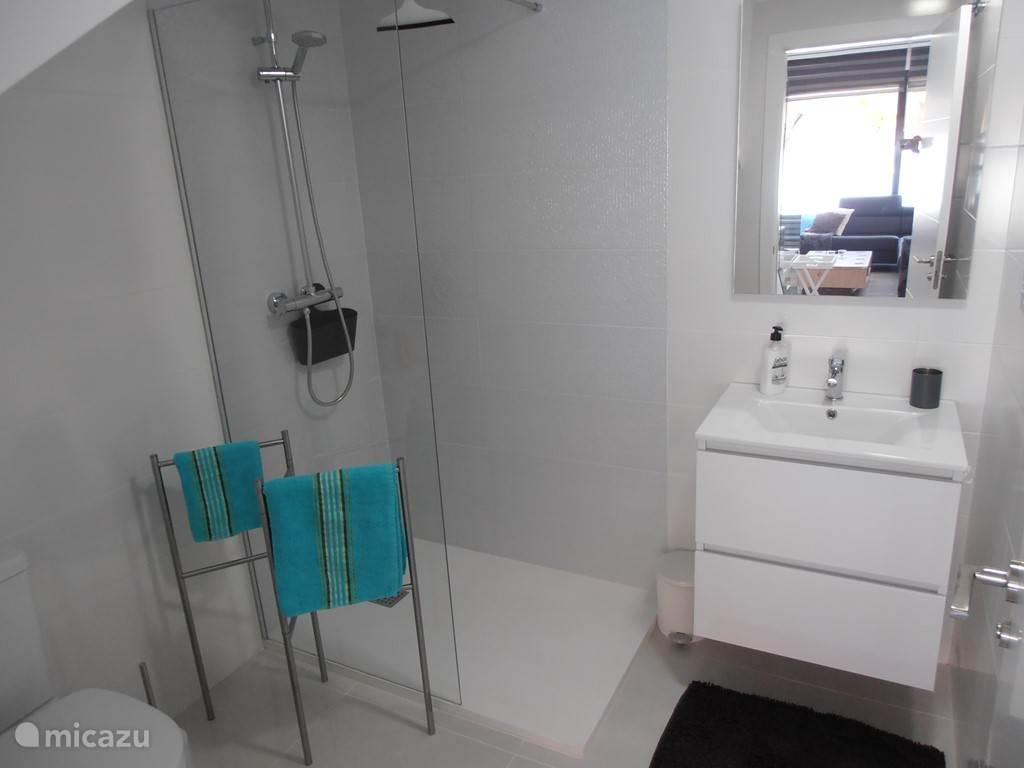 Badkamer met inloopdouche op het gelijkvloers