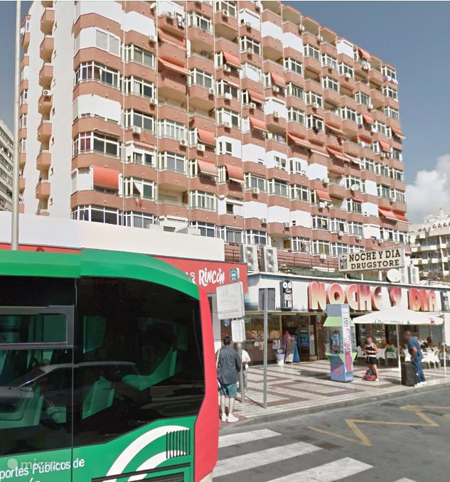 Het flatgebouw waar Miguel op de 8e verdieping is