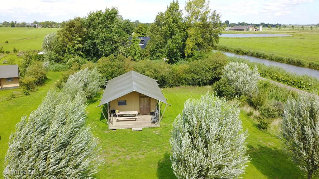 Vakantiehuis Nederland, Groningen, Lettelbert Glamping / Safaritent / Yurt Aan het Diepje 6persoons Safaritent