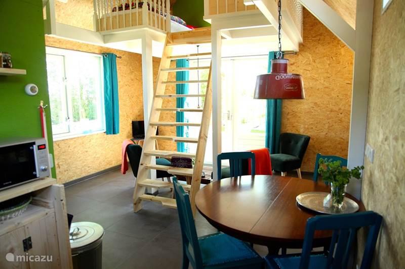 Vakantiehuis Nederland, Groningen, Lettelbert Blokhut / Lodge Aan het Diepje 4-persoons ecolodge