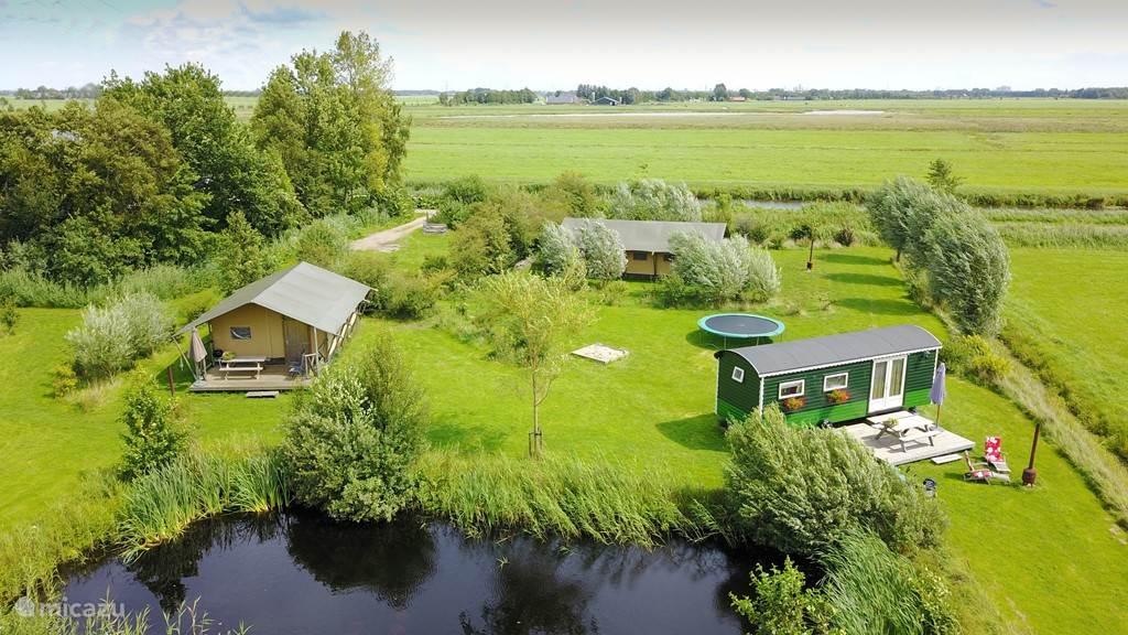 Vakantiehuis Nederland, Groningen, Lettelbert Stacaravan Aan het Diepje 4-p. circuswagen