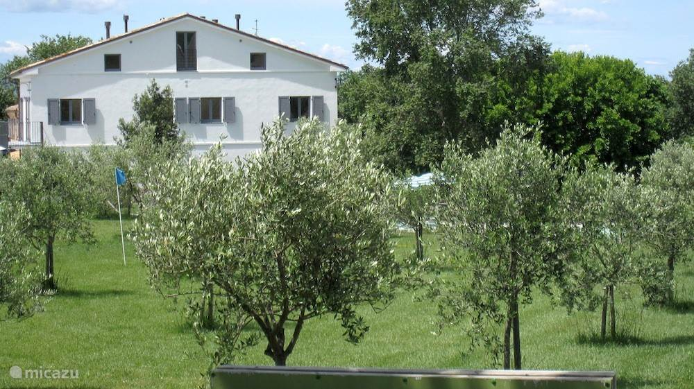 Het vakantiehuis gezien vanaf de oostzijde