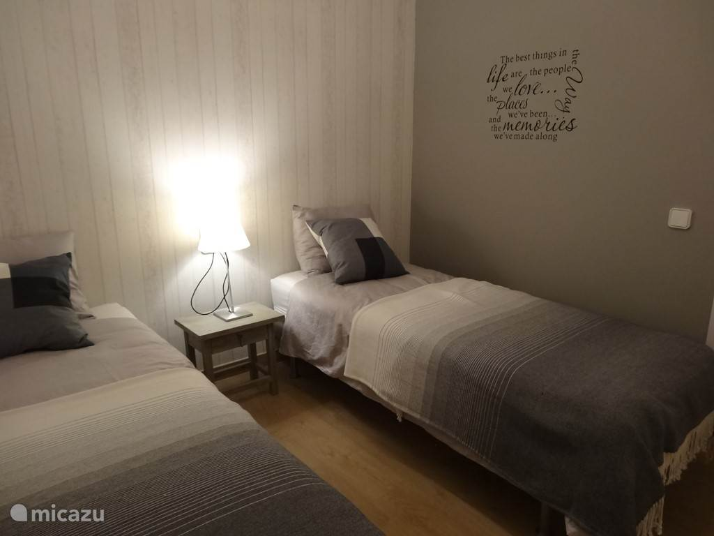 Slaapkamer 3. 2 bedden van 0,80 x 2.00m.