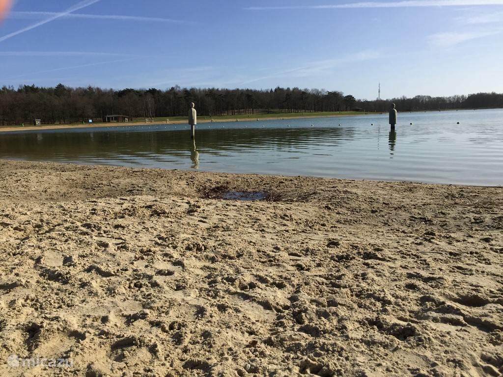 Heerlijk zwemmen in schone recreatie plas in de buurt.