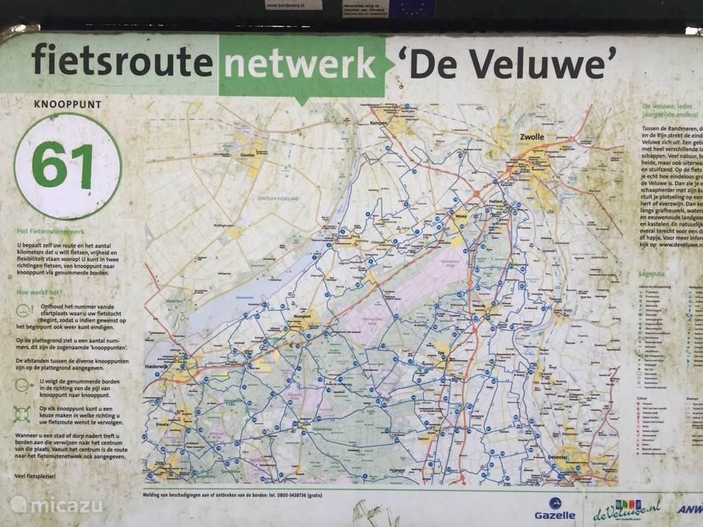 Aan fiets routenetwerk 'de veluwe' knooppunt 61.