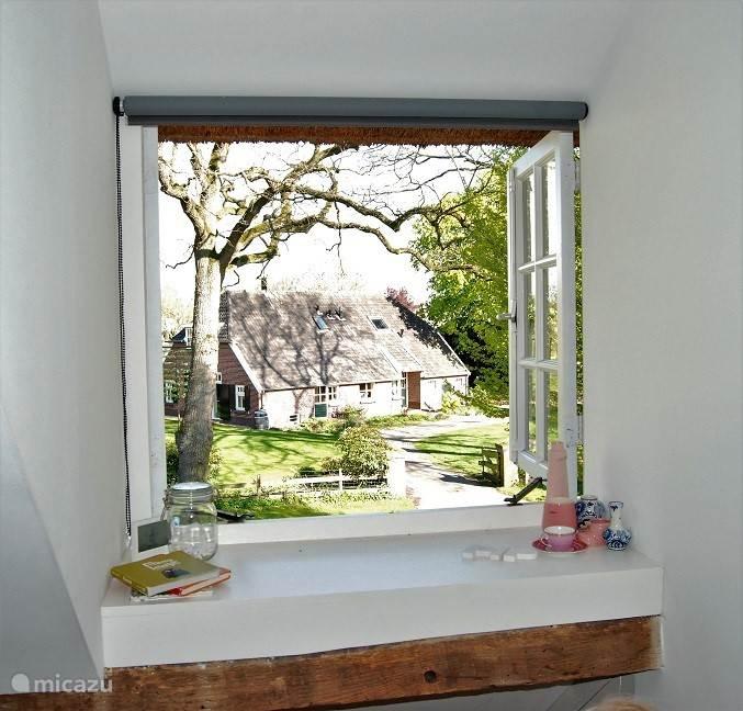 Uitzicht slaapkamer 2 - net een schilderij!