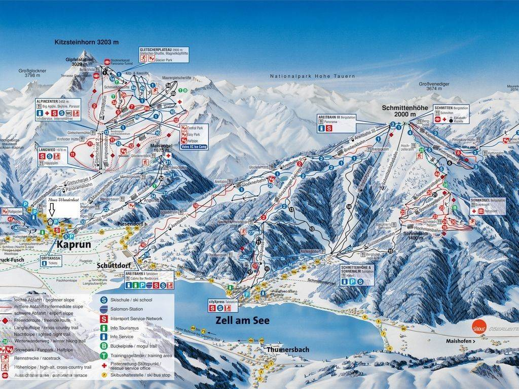 The ski resort of Zell am See and Kaprun