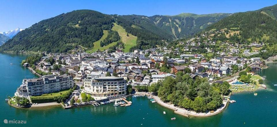 Zell am See from the air