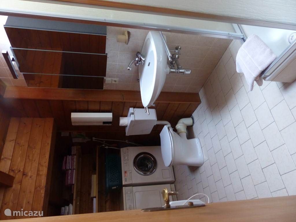 1 bathroom with shower and toilet