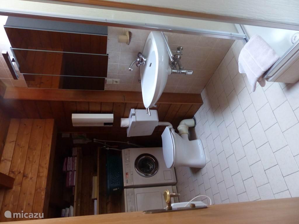 Badkamer 1 met douche en toilet