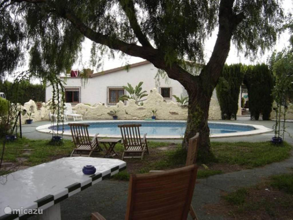 huis vanaf zwembad