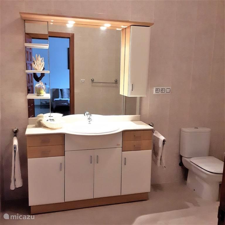 Badkamer bij  gastenverblijf