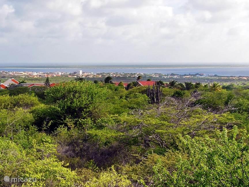 U heeft een panorama uitzicht naar Klein Bonaire, Kralendijk en de Caribische Zee.