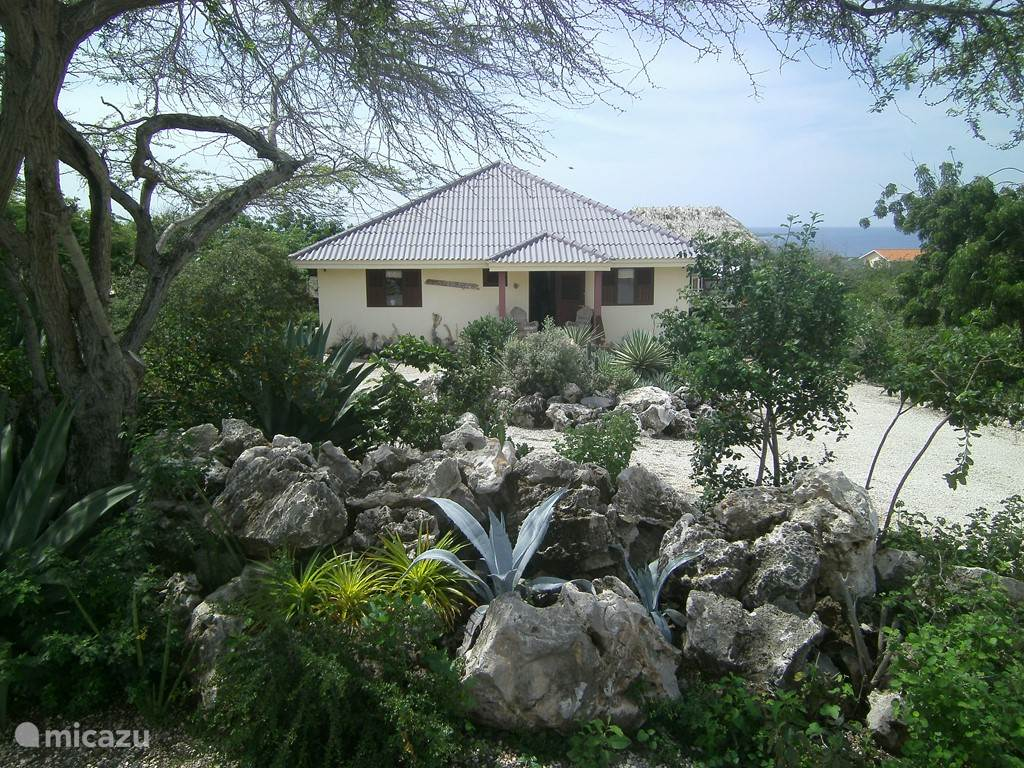 The villa is set in beautiful natural surroundings.