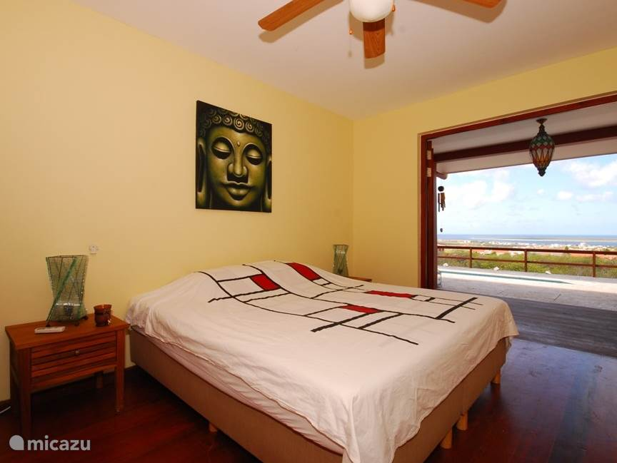 The villa has three bedrooms, equipped with air conditioning and fan - sets of sheets are available.