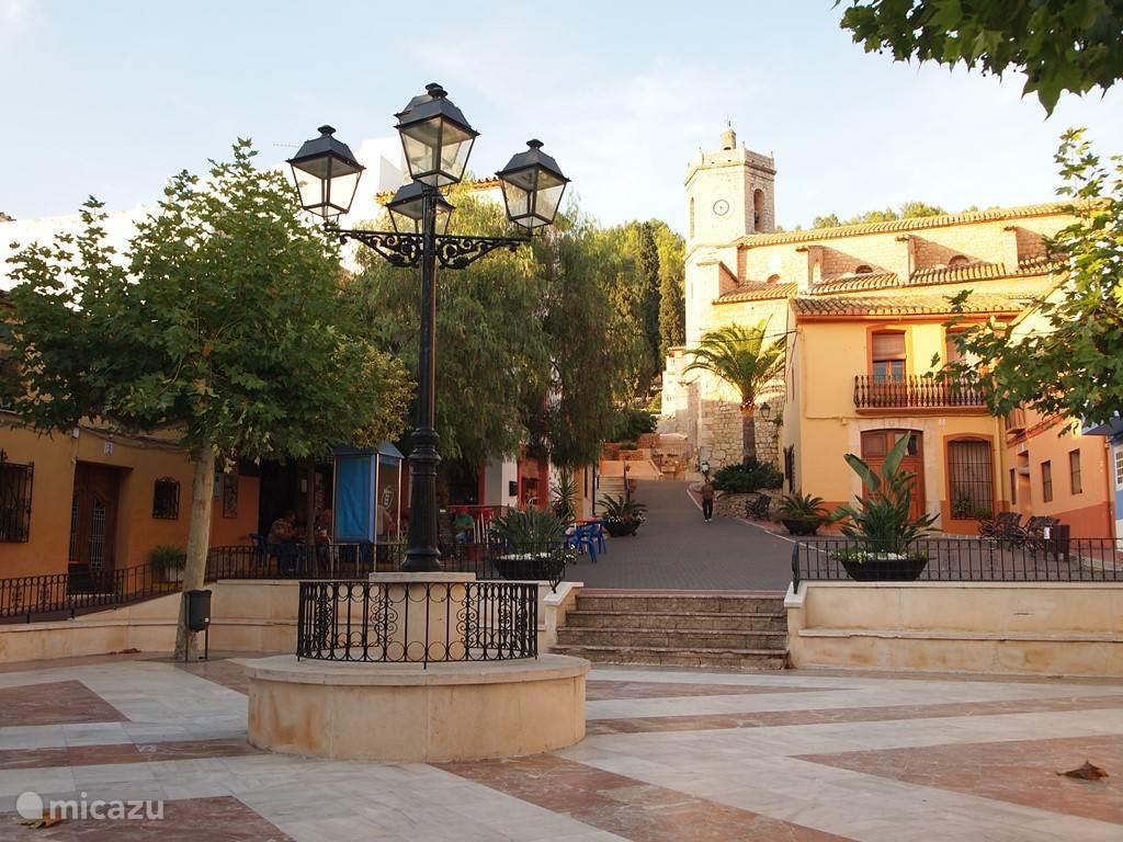het dorpsplein