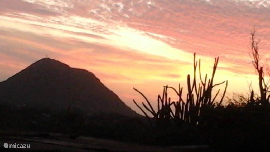 Sunset, view from garden