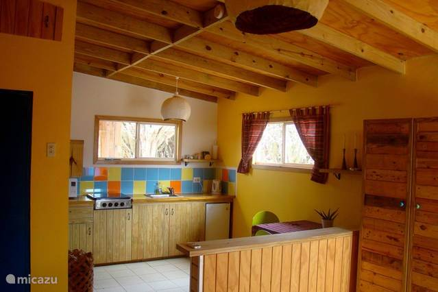 keuken, slaapkamer en zitkamer ineen