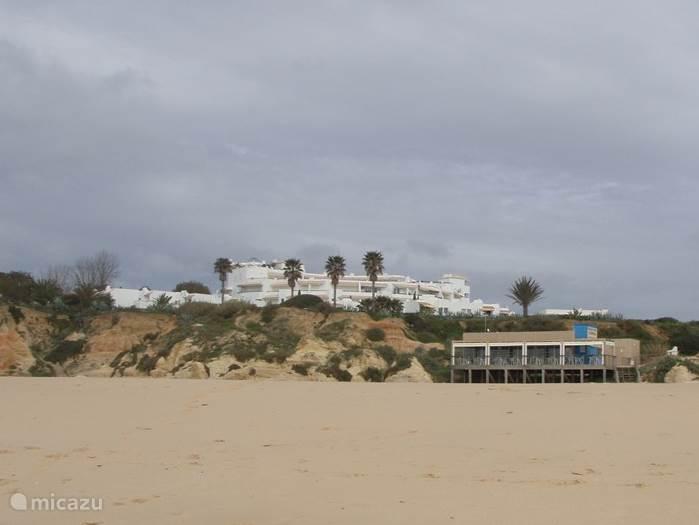 Aanzicht vanaf het strand