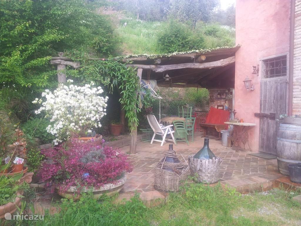 Het terras van Fornellino.
