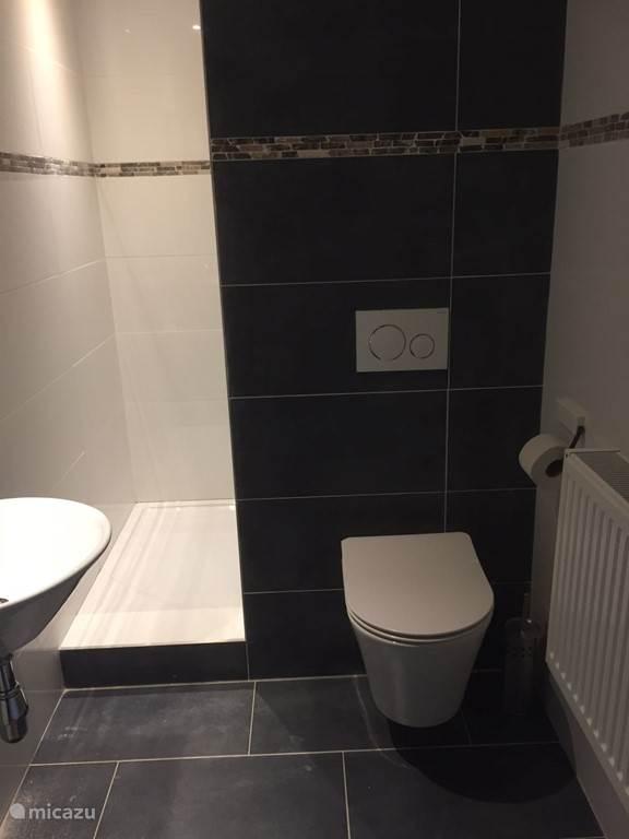 Splinternieuwe badkamers met douche en toilet