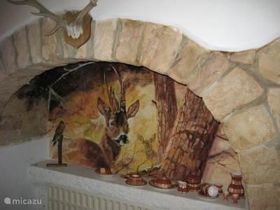 Entree hal met wandschildering