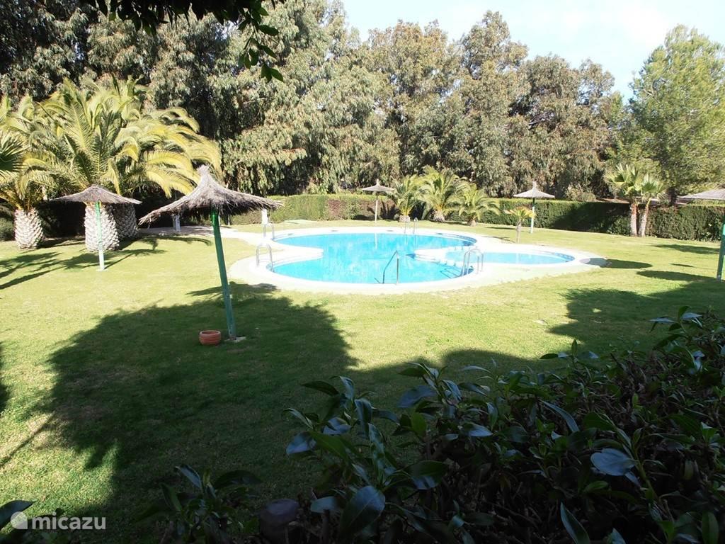 Zwembad met tuin, er is ook een speeltuin voor de kleintjes aanwezig.
