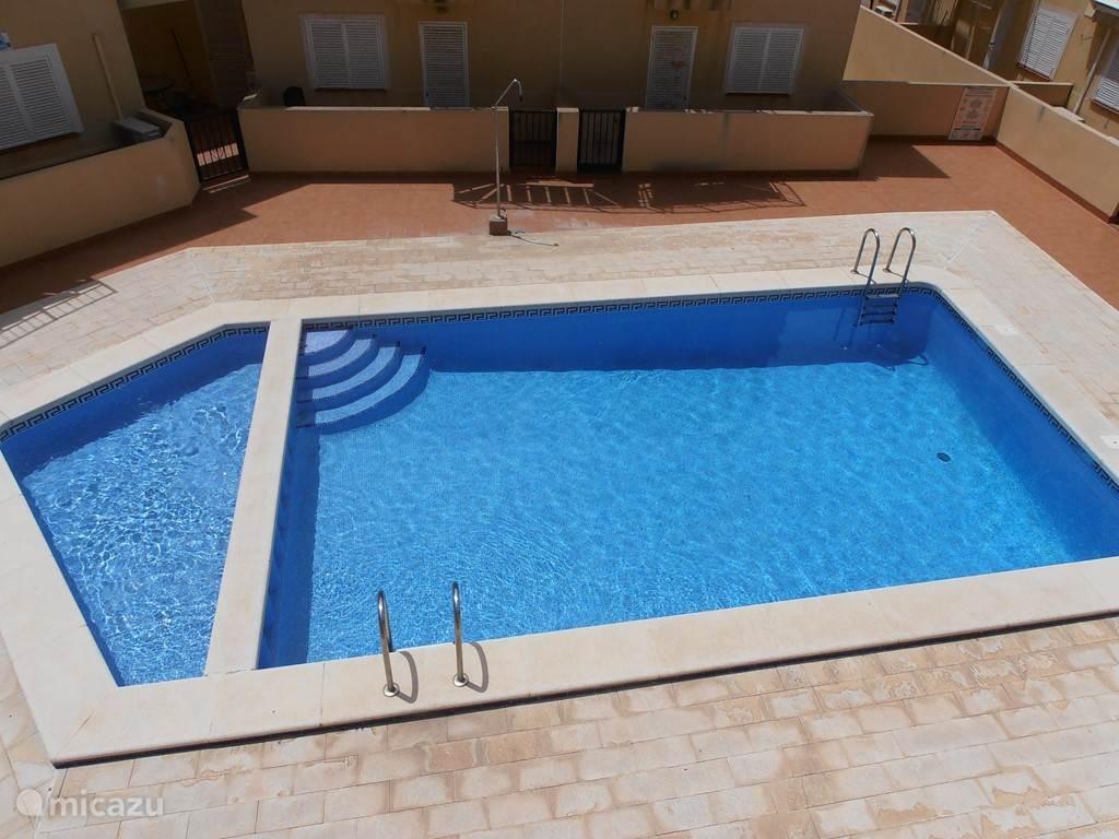 Zwembad achter de woning.