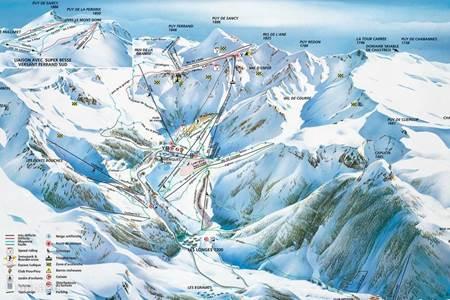 Skigebied op 75 min. rijden
