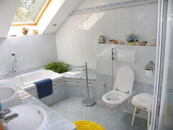 Een van de drie badkamers